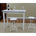Antique White Pavina Pub Bar Table