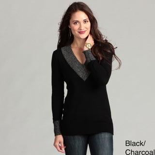 Cullen Women's Cashmere V-neck Long Sleeve Top