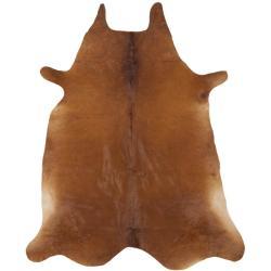 Safavieh Handpicked Hacienda Argentinian Brown Cowhide Leather Rug (5' x 7')