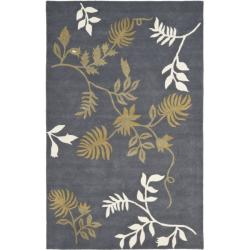 Safavieh Handmade Soho Twigs Dark Grey New Zealand Wool Rug  (5'x 8')