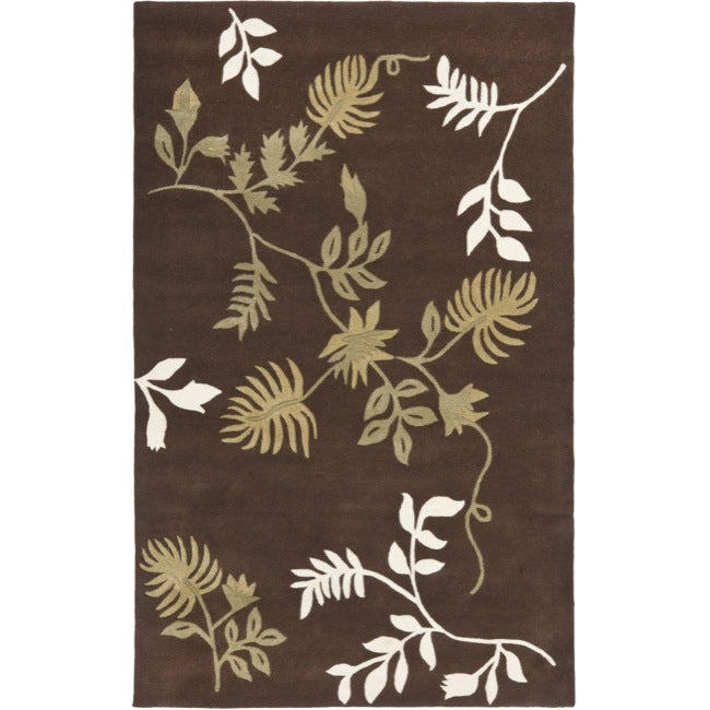 Safavieh Handmade Soho Twigs Brown New Zealand Wool Rug (2'6 x 8')