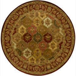 Hand-Tufted Traditional Mandara Wool Rug (7'9 Round)