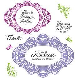 JustRite Stampers Kindness Cling Stamp Set (Pack of 10)