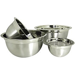 Prime Pacific Stainless Steel Euro Style Bowl (Set of 4)
