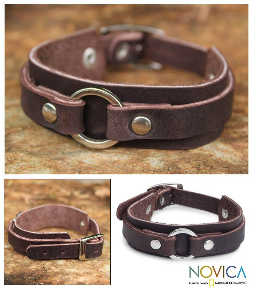 Leather 'Tham Luang Forest' Bracelet (Thailand)