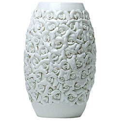 Red Vanilla Valencia Ceramic 14.25-inch Cream Vase