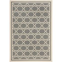 Safavieh Poolside Anthracite/Beige Indoor/Outdoor Area Rug (9' x 12')