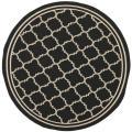 Safavieh Poolside Black/Beige Indoor/Outdoor Rug (6'7