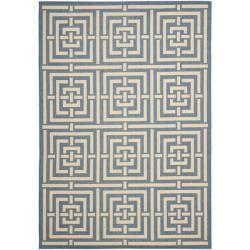 Safavieh Poolside Blue/ Bone Indoor Outdoor Rug (4' x 5'7)