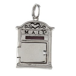 La Preciosa Sterling Silver Hinged Door Mailbox Charm