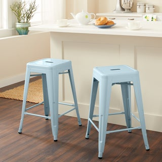 Tabouret 24-inch Blue Counter Stool (Set of 2)