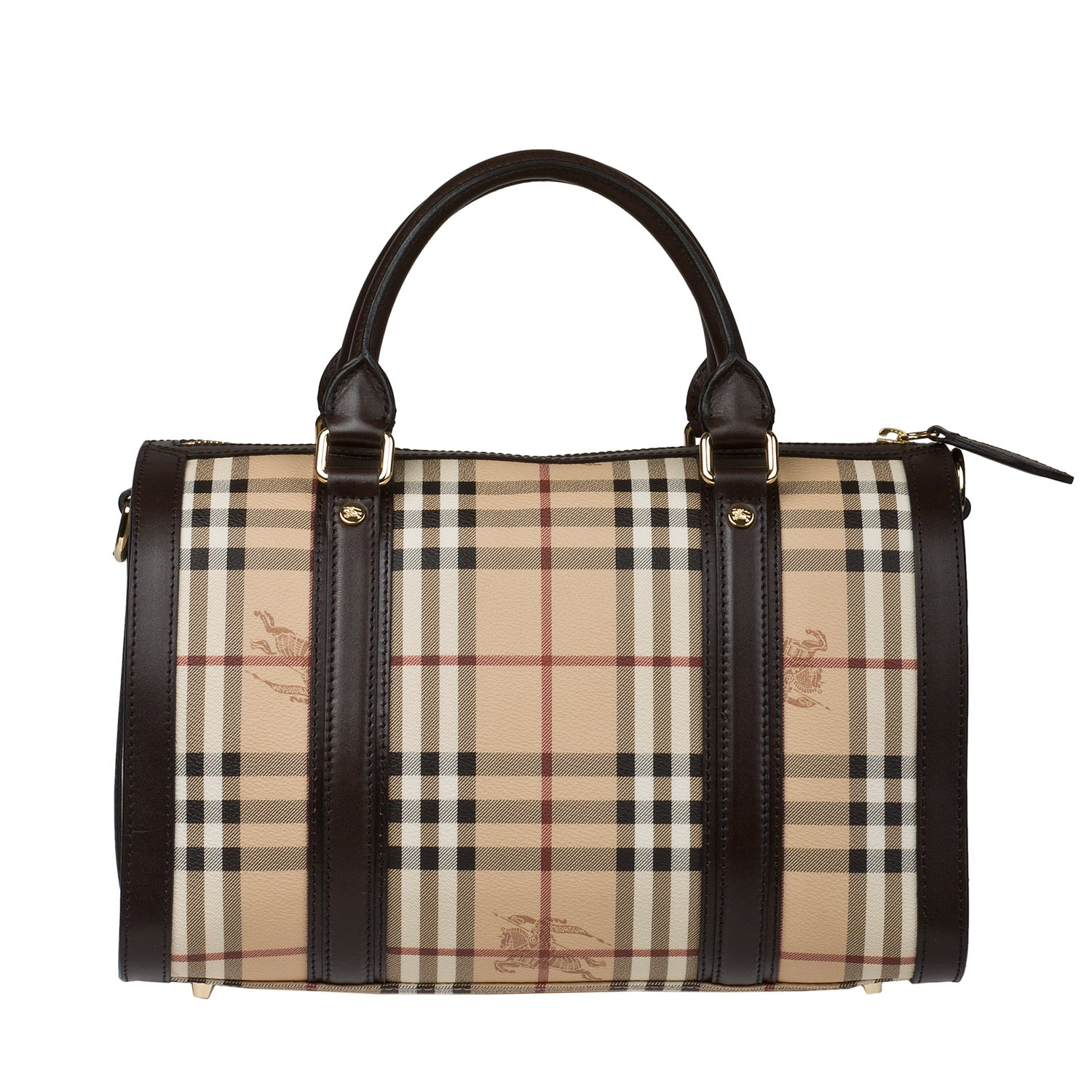 Burberry Medium Haymarket Check Bowler Bag
