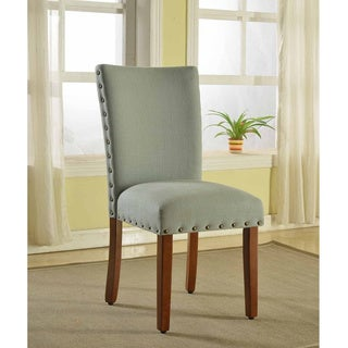 Sea Foam Nail Head Parsons Chairs (Set of 2)