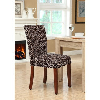 Leopard Parsons Chairs (Set of 2)