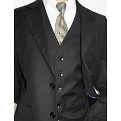 Ferrecci Boys' Black 3-piece 2-button Suit