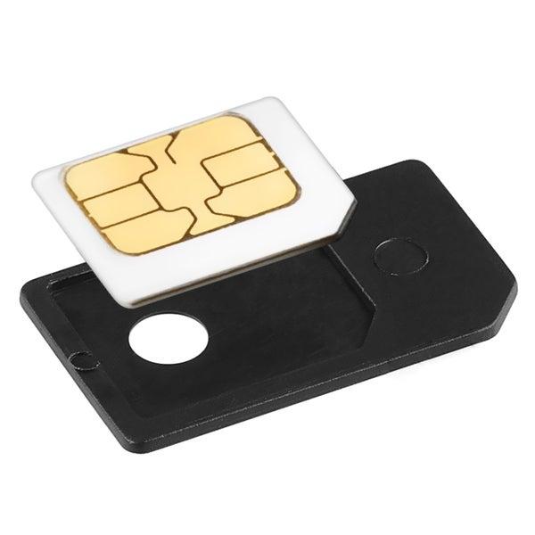 INSTEN Black PVC-plastic Micro SIM Card Plug-in Adapter Cellphone Accessory