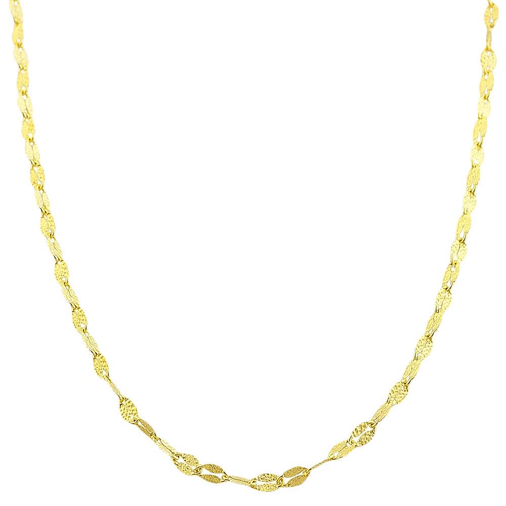 Fremada 10k Yellow Gold 2.2-mm Textured Flat Link Chain