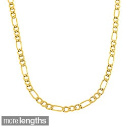 10k Yellow Gold 3.6-mm Figaro Link Chain (18-24 inches)
