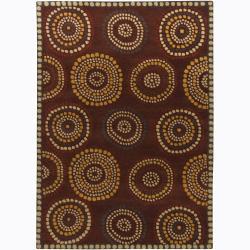 Hand-Tufted Contemporary Mandara Geometric Wool Rug (7' x 10')