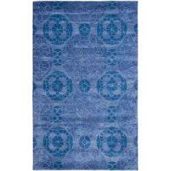 Safavieh Handmade Chatham Treasures Blue New Zealand Wool Rug (8' x 10')