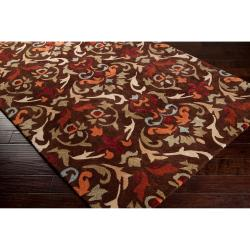 Hand-tufted Brown Mayall Polyester Rug (5' x 8')
