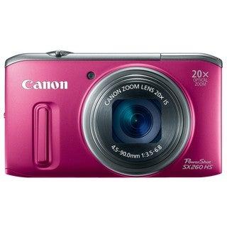 Canon PowerShot SX260 HS 12MP Red Digital Camera