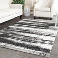 Safavieh Deco Inspired Dark Grey/ Light Grey Rug (8' x 10')