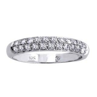 Beverly Hills Charm 10k White Gold 1/2ct TDW Diamond Band (H-I, I2-I3)