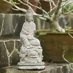 Volcanic Ash Sitting Quan Yin Statue (Indonesia)