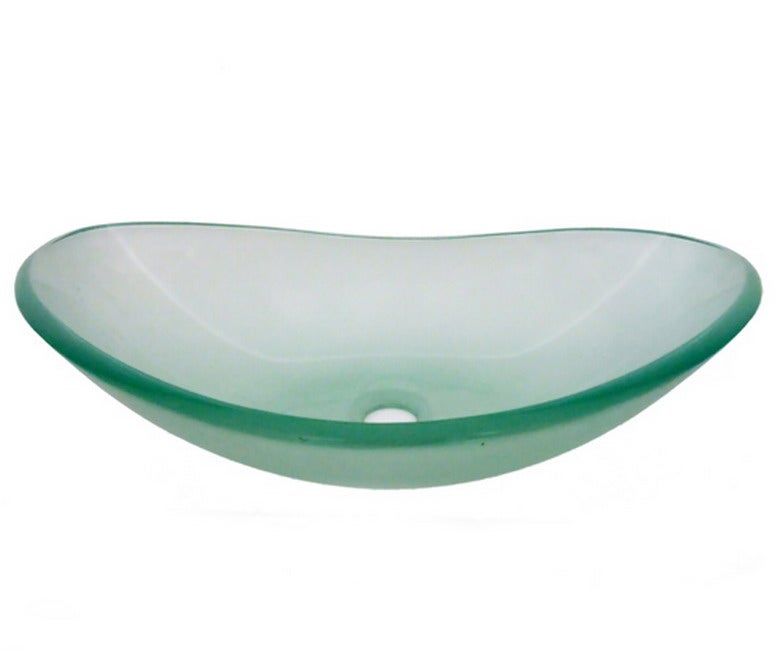 Frosted Tempered Glass Oval Sink Bowl