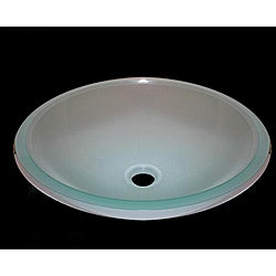 Frosted White Glass Vessel Sink
