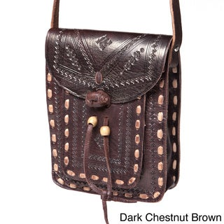 Crossbody Leather Messenger Bag (Morocco)