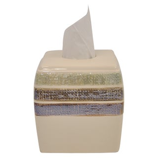 Ceramic Rayan Beige Tissue Holder