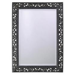 Antique Black Mirror with Silver Highlights