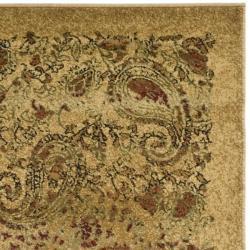 Safavieh Lyndhurst Collection Paisley Beige/ Multi Rug (2'3 x 18')