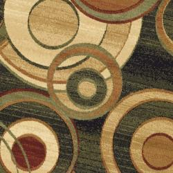 Safavieh Lyndhurst Collection Circ Black/ Green Rug (7' Round)