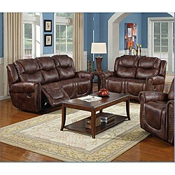 Witiker Brown Reclining Sofa and Loveseat