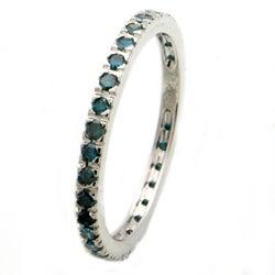 Beverly Hills Charm 14k Gold 1/2ct TDW Blue Diamond Ring (Blue, I1-I2)