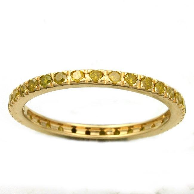 Beverly Hills Charm 14k Yellow Gold 1/2ct TDW Yellow Diamond Wedding Band