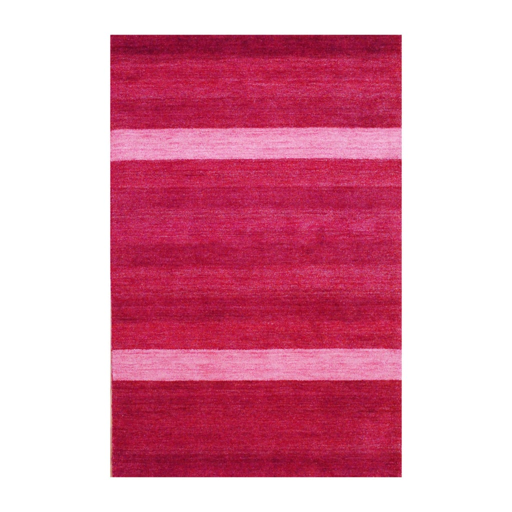 Indo Hand-Knotted Tibetan Red Indoor Wool Rug (4' x 6')