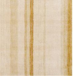 Indo Hand-knotted Tibetan Beige Wool Rug (4' x 6')