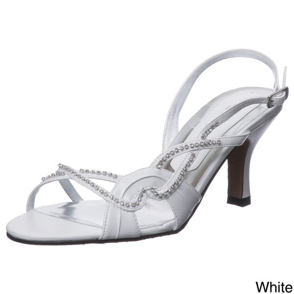 Lasonia Women's Rhinestone Low Heels