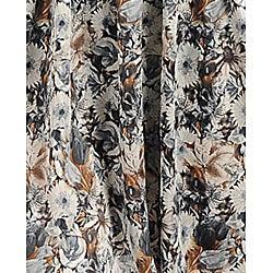 Stanzino Women's Grey Ivory Floral-print Ruffled Single-shoulder Dress