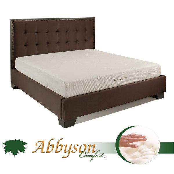 Abbyson Comfort 'Sleep-Green' 10-inch Queen-size Memory Foam Mattress