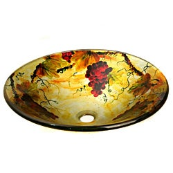 Glass Vino-motif Sink Bowl