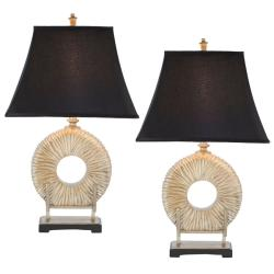 Safavieh Indoor 1-light Midnight Circle Table Lamps (Set of 2)