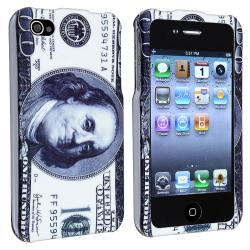 INSTEN Hundred Dollar Snap-on Rubber Coated Phone Case Cover for Apple iPhone 4/ 4S
