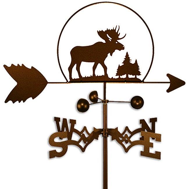 Handmade Wildlife Steel Moose Weathervane