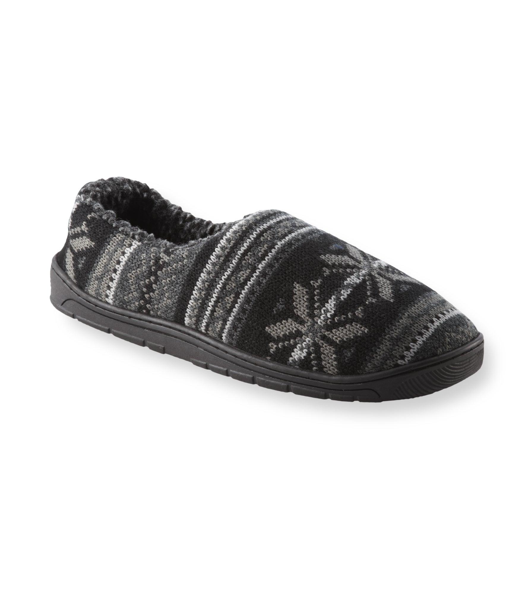 Muk Luks Men's 'John' Black Fairisle Knit Foot Slippers