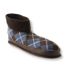 Muk Luks Men's 'Sheldon' Brown Argyle Knit Ankle Slippers